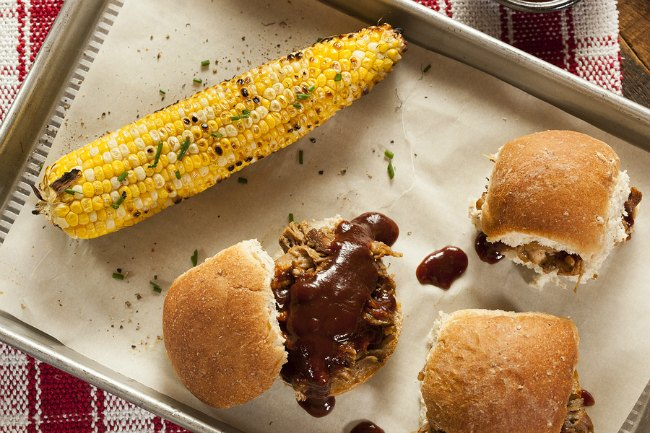 As a mom, I'm always looking for quick and easy mealtime solutions. I want something that is super fast to make, requires few ingredients and is enjoyed by everyone in the family. Quick and easy pulled pork sandwiches, cheesy macaroni and cheese and corn on the cob. It's a quick crockpot meal that you'll be adding to your weekly menu. Loved by kids (and moms!)
