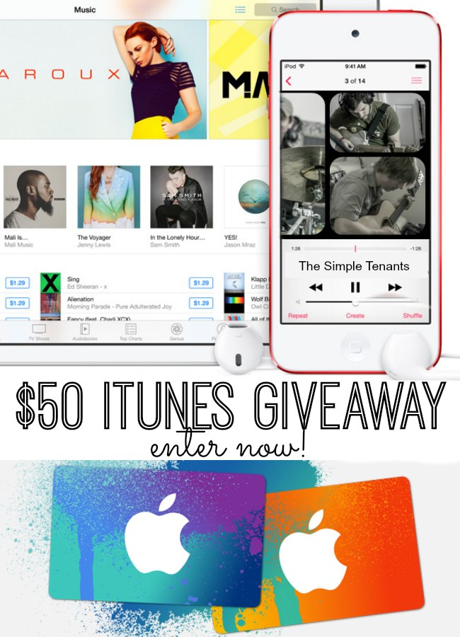 Enter now to win a $50 iTunes Gift Card!