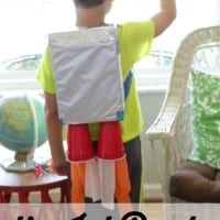 This super simple DIY jet pack will have your kids blasting off into outer space! Great craft for kids!