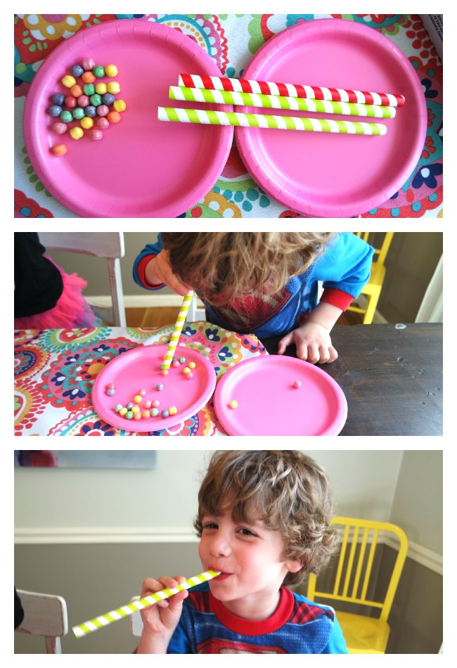Fun and simple Minute to Win it Games for Kids! Easy to set up, challenging for kids! Great activities for kids parties! Fun idea for New Year's Eve, birthday parties, family fun night, after-school parties or a pizza party! My kids LOVED this!