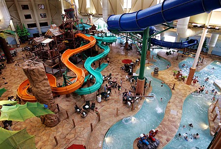 dont let bad weather rain on your family vacation check out these 12 - Cool Indoor Pools With Slides