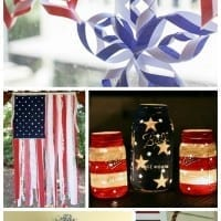 Patriotic DIY 4th of July decorations for your home. Great crafts, a 4th of July wreath and other fun ideas to decorate your home or get ready for your 4th of July party.