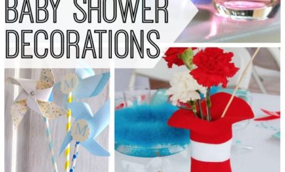 15 DIY baby shower decorations to help celebrate baby's arrival. From a diaper wreath to a fun baby shower photo backdrop, your home will be the perfect party spot for the next baby shower you host. #8 is my favorite.
