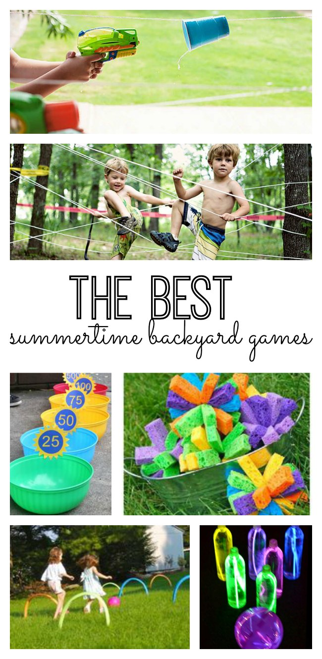The best summertime backyard games for your kids! #20 is genius!