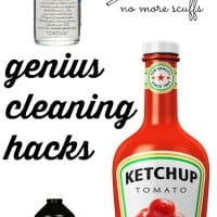 Genius cleaning hacks that will blow your mind! How you can use ketchup, vodka and even tennis balls to keep your house clean and shiny. Seriously - some of the best diy cleaning tips I've seen - even natural, chemical-free cleaning ideas so your kids can help too. Your home is going to sparkle after this.