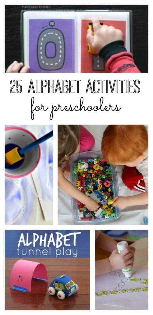 Your preschoolers will love to learn the alphabet with these amazing activities. Check out these 25 alphabet activities for preschoolers!