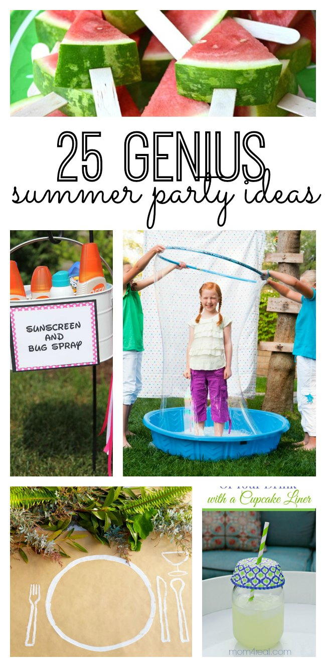 If you're planning on hosting a summer party at home, you will love these 25 genius summer DIY summer party ideas! Throw a party at your house with these great design and decor ideas (and even fun cake and dinner recipe ideas.)