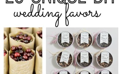 Wedding favors can truly add such a special touch to the end of an evening before your guests depart. They don't have to break your budget though or require countless hours crafting. We have you covered with these 20 unique DIY wedding favors.