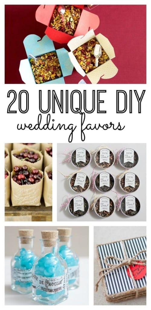 Wedding favors can truly add such a special touch to the end of an evening before your guests depart. They don't have to break your budget though or require countless hours crafting! We have you covered with these 20 unique DIY wedding favors.