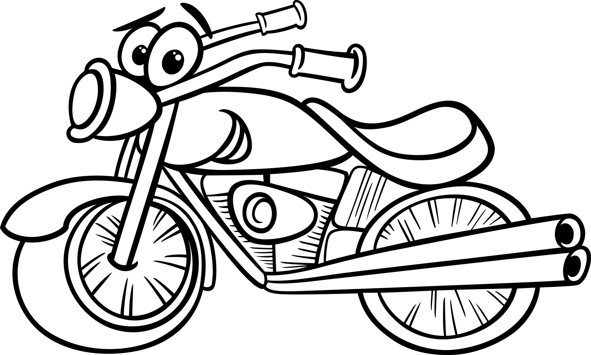 free biker coloring pages - photo#31