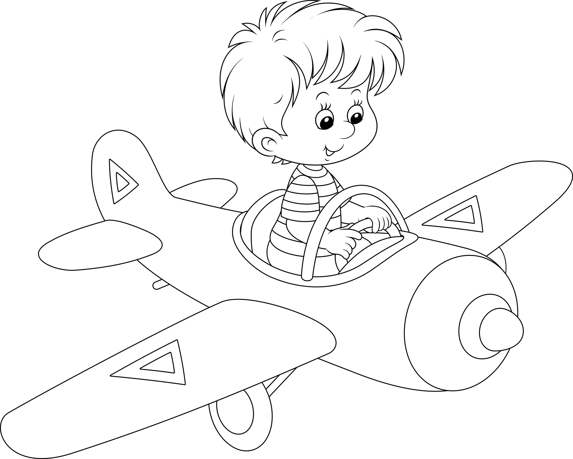 pilot coloring pages - photo#10