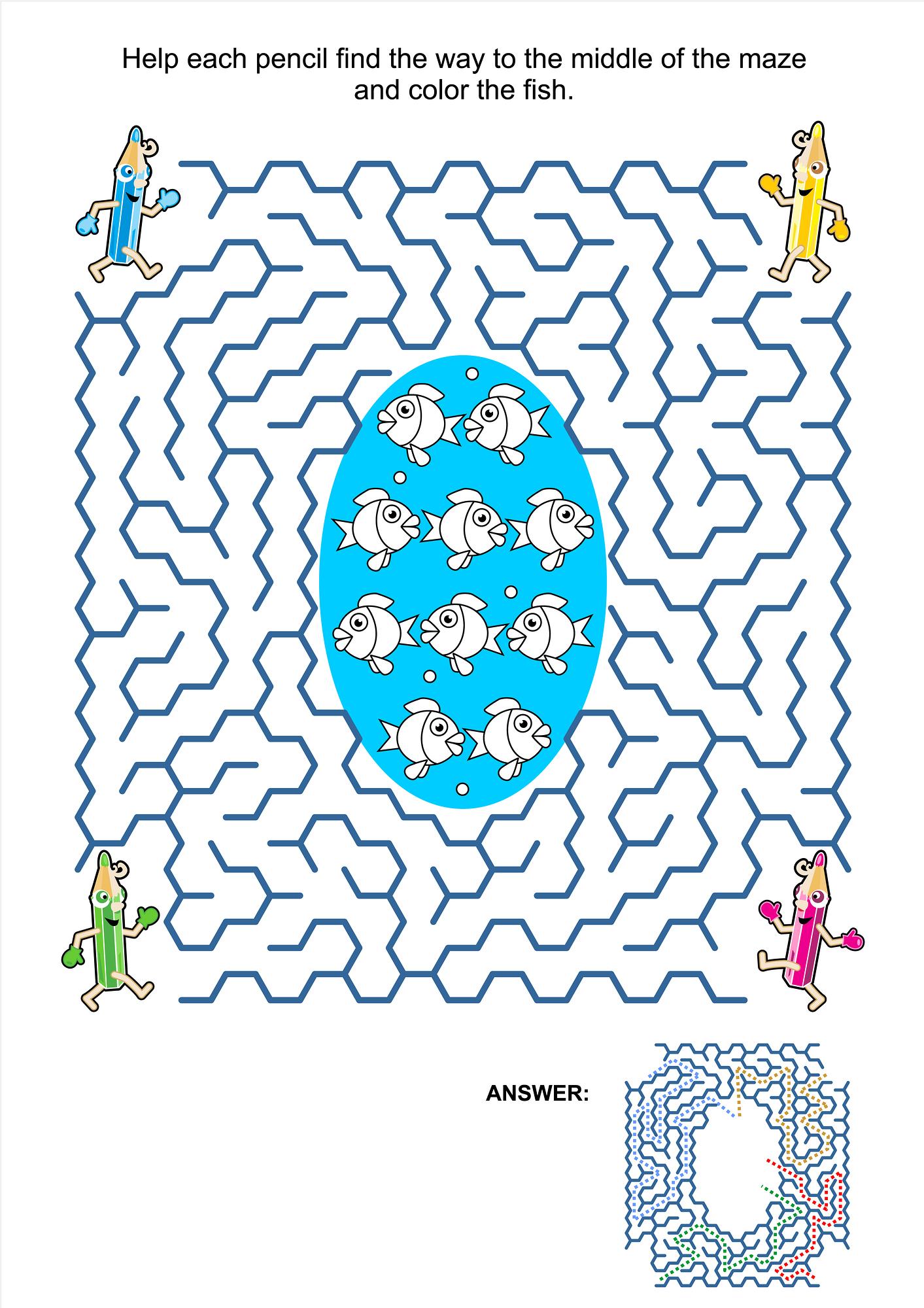 Image Result For Kids Maze Coloring