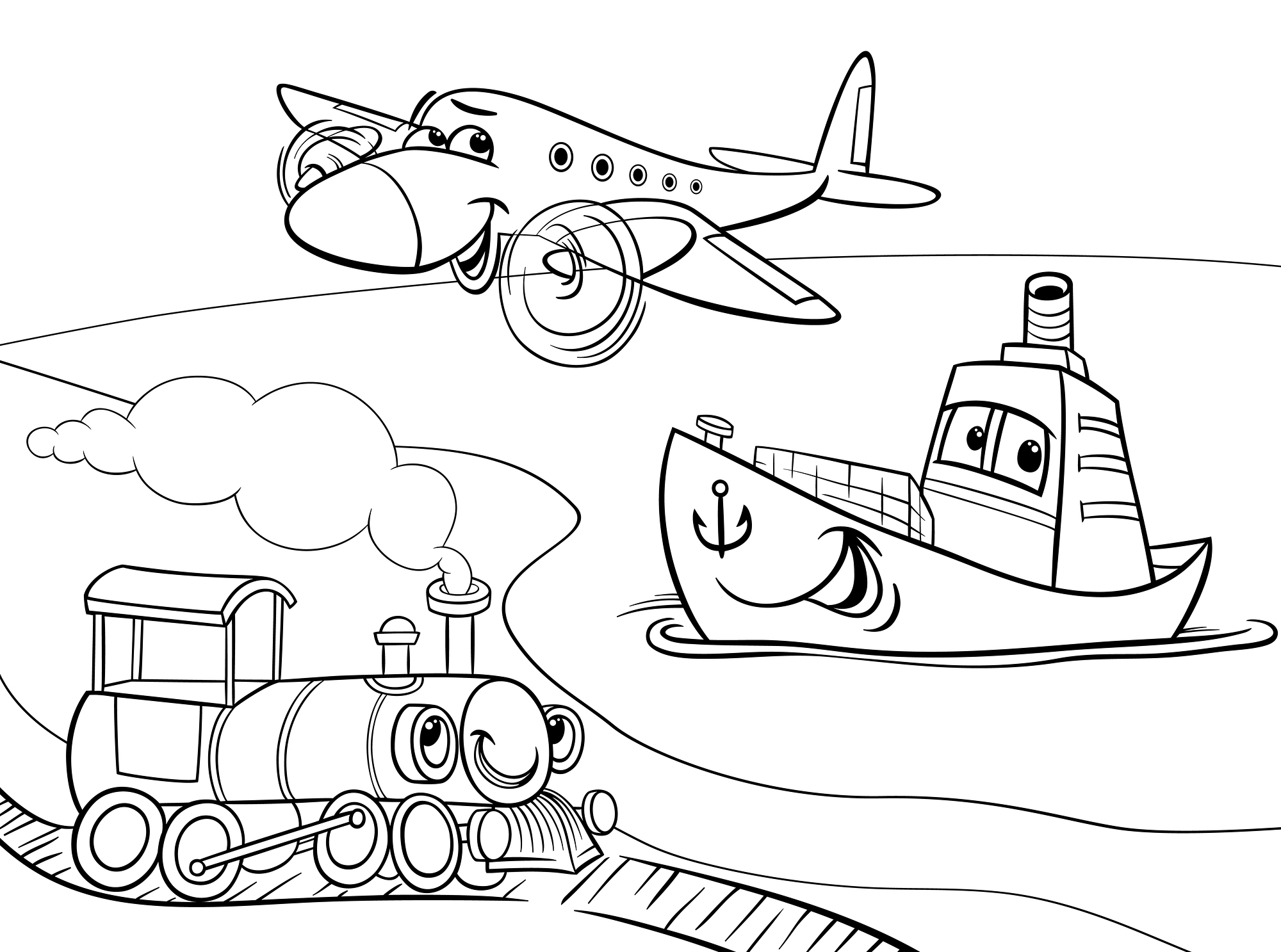 free coloring pages travel - photo#2