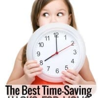 The best time saving hacks for moms! More than 40 ideas to help you be more efficient with your time.