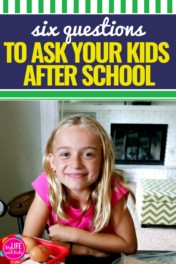 Get your kids talking. Six specific questions to ask your kids after school. Get more than one-word answers about your kids' day at school with these great questions. Plus tips on how to keep the conversations going. A must-read for moms with kids in school. They even work to get boys talking! #backtoschool #kids #conversation #questionsforkids #boys #girls #tweens #firstgrade