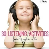 Help enhance your child's listening skills with these 30 fun listening activities for 3 year olds!