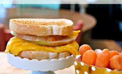 Today I'm putting all of my favorite childhood memories together into one delicious and simple fall sandwich. If you're looking for a fun fall lunch recipe, then look no further than this simple grilled cheese and apple sandwich. It will quickly become a family favorite meal - for lunch OR dinner.