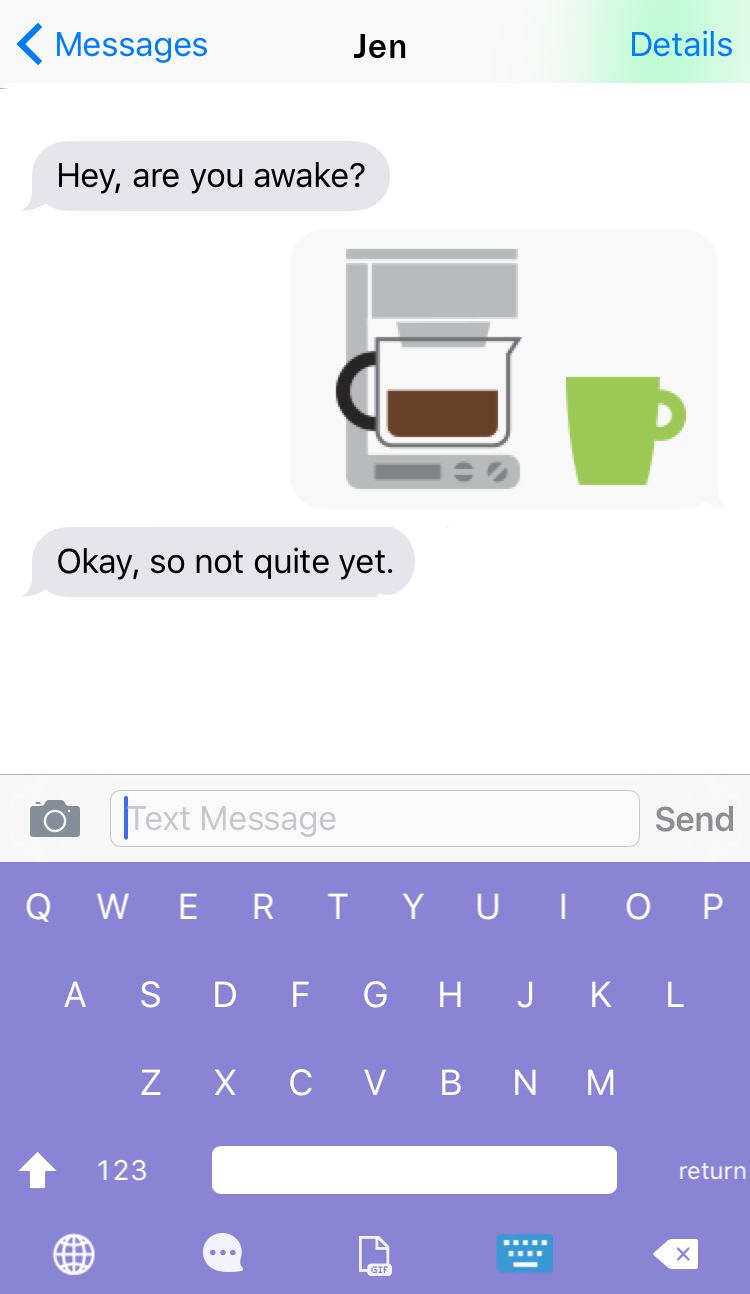 Emojis for moms. Finally - you can express your need for coffee, perfectly describe a blowout - and a meltdown - without having to say a single word. Moms - download these free emojis now.