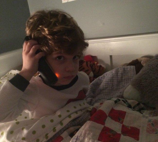 Santa calling Simon