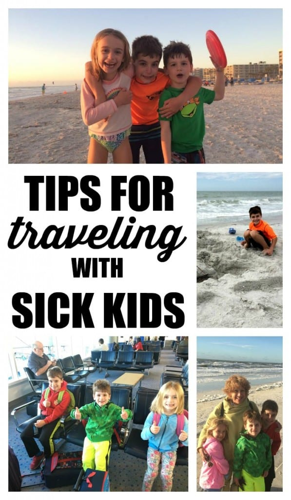 Whether we've been driving or flying, I've taken more than my fair share of vacations with sick kids. I'm sharing my very best advice for helping everyone feel better fast while you're traveling.