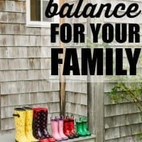 Life with kids is busy! Pick three is a unique way to create balance for your family.