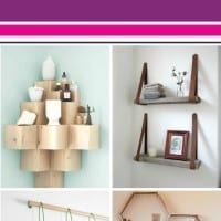 10 Stylish shelves that you can make yourself. Update your space with some DIY shelves. Perfect for your kitchen, office, or anywhere in your home. Such a great and simple idea.