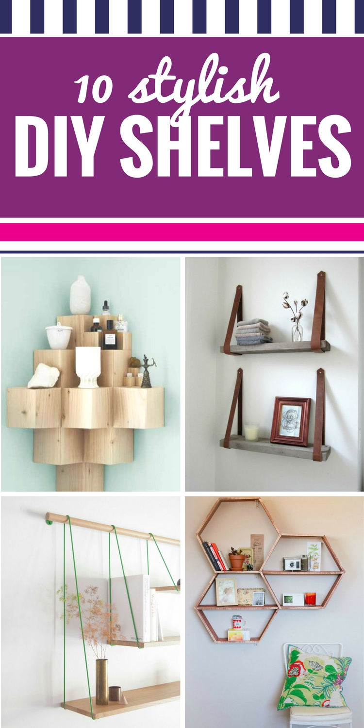 10 stylish DIY shelves pin