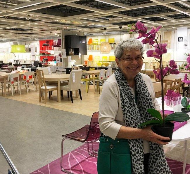 Grandma at Ikea