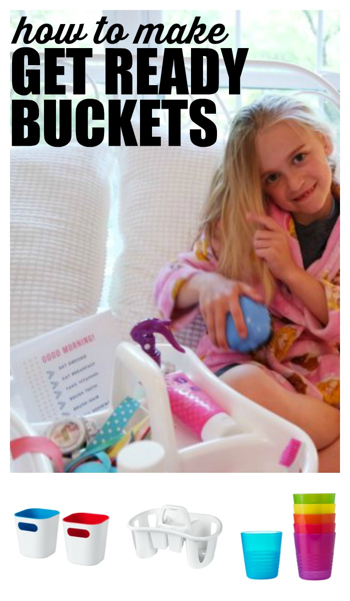 With three kids, I'm always looking for ways to simplify our lives. And these Get Ready Buckets have made a huge difference in our mornings! Everyone has everything they need, and I'm not yelling at my kids all morning. I've even included our good morning checklist as a free printable, so you can make your own get ready buckets. In partnership with IKEA. First59