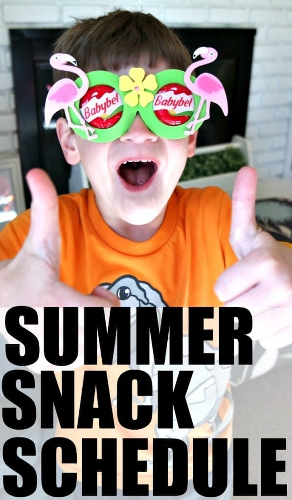 This daily summer snack schedule for kids will change your summer. You won't be living in the kitchen negotiating healthy snack ideas with kids, and your kids won't be begging you for food ALL DAY LONG. Great, easy ideas to get your kids on a snack schedule this summer.