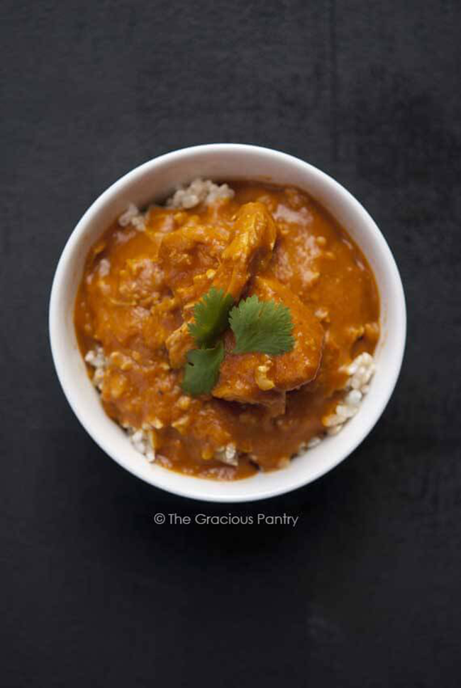 Clean Eating Slow Cooker Pumpkin Chicken Curry copy