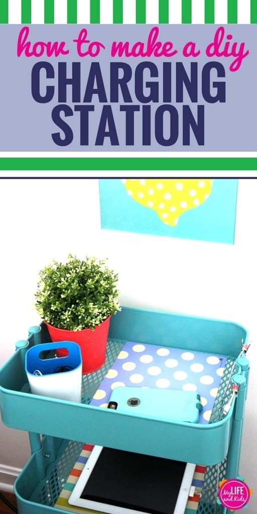 Are you looking for DIY charging station ideas? Create this easy DIY charging station using the RASKOG Utility Cart from @IKEAUSA. From tablets to phones and even laptops, this simple charging station is perfect for families. Partner.
