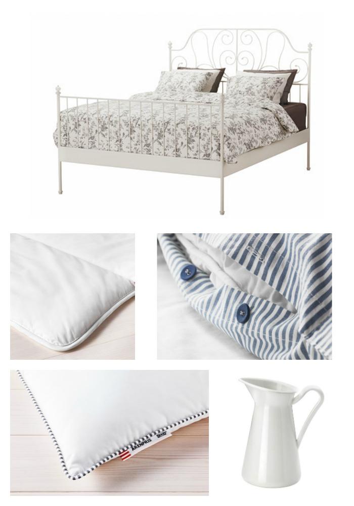 Elegant IKEA PRODUCTS LEIRVIK Bed frame white