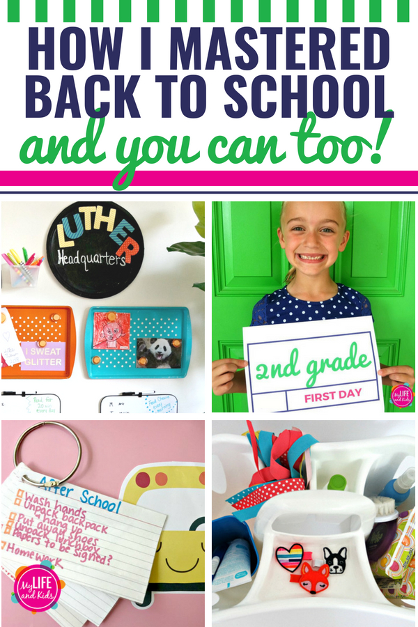From kindergarten to highschool, if you're going back to school, here are the best ideas and hacks to help you master the process. From organization to hairstyles, outfits, lunches and even sports, you'll find it all here. These tips and activities will have you in a great routine this fall and are sure to make it the best year ever. #backtoschool #highschool #kindergarten #routine #commandcenter #organization #lunch #ideas