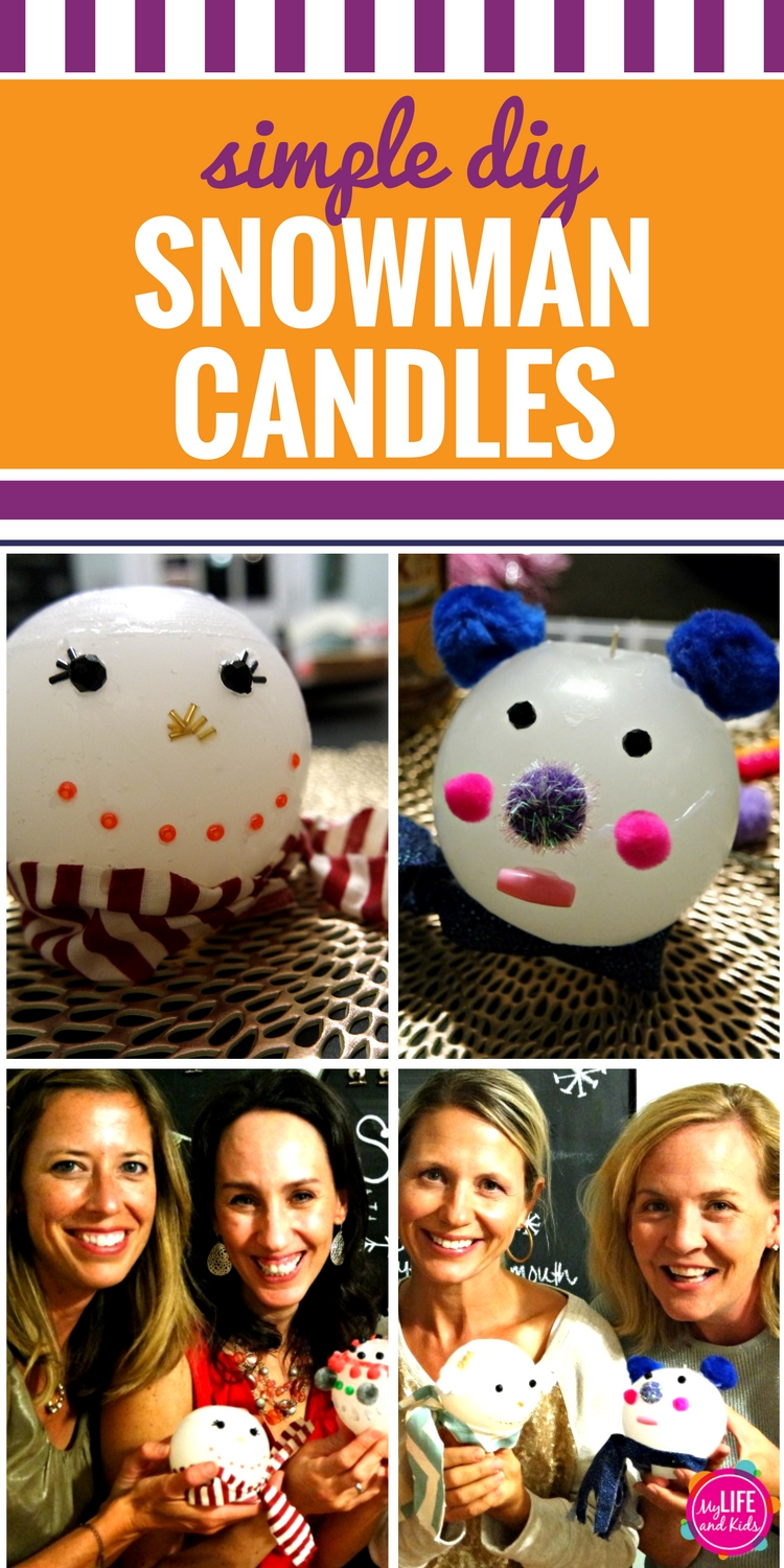 How to Make a Snowman Candle Pin