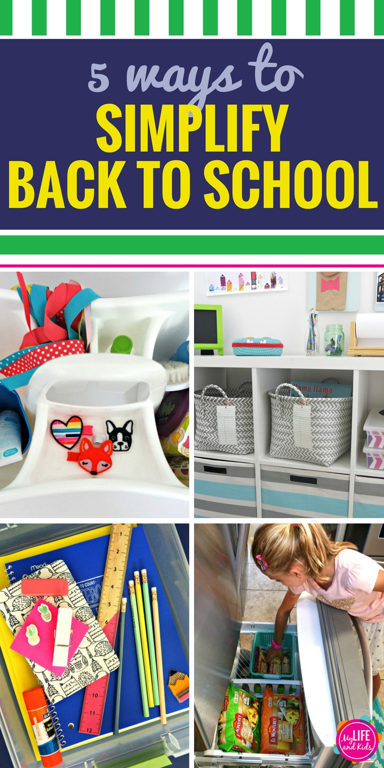 From command centers to tech hacks and even a great way to make sure no one ever misses the bus again, you'll love these five ways to simplify the craziness that is back to school.