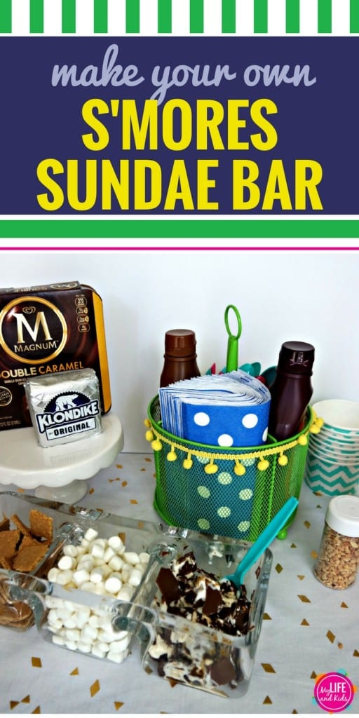 Build your own S'Mores Sunday Bar with this DIY variation of everyone's favorite campfire dessert. With graham crackers, marshmallows and Klondike bars, you (and your kids) will love this recipe for the ultimate dessert bar.