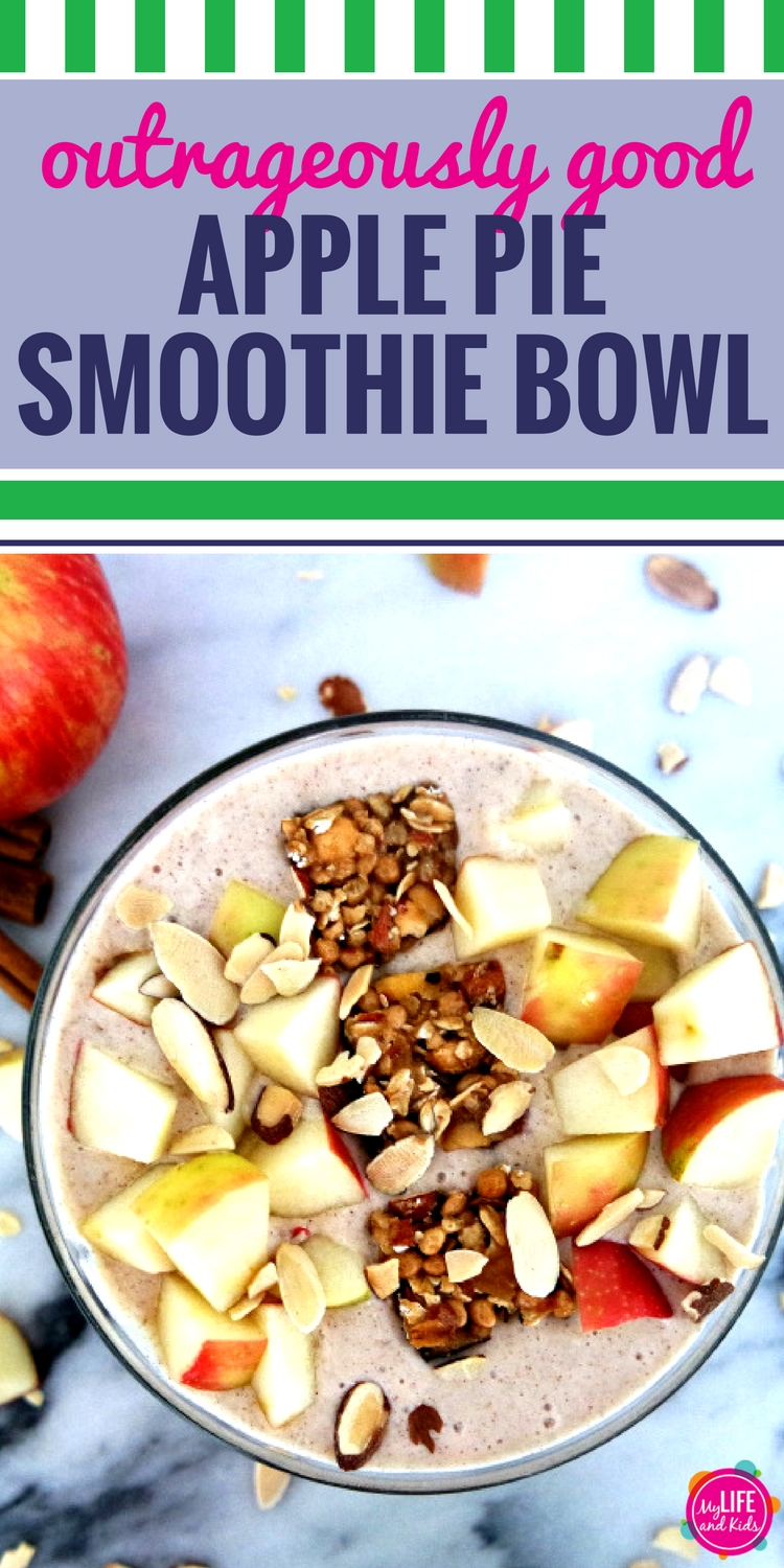 apple pie smoothie bowl recipe pin
