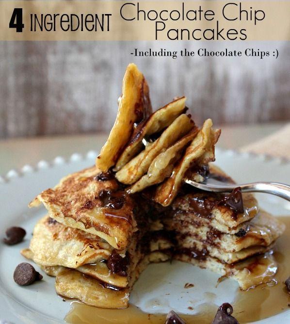 4-ingredient-chocolate-chip-pancake