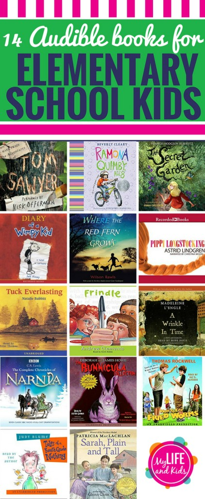 Have kids in elementary school? I'm sharing 14 of the best Audible books for kids in elementary school. Your 1st - 5th graders will love these books (and you will too.)