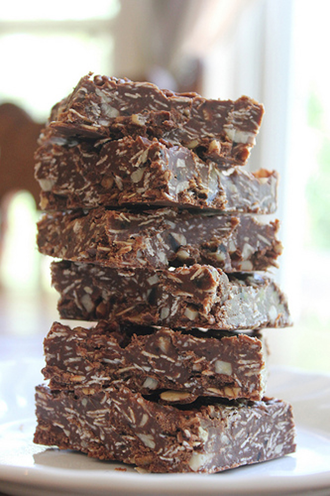 No Bake Chocolate Oat Bars Recipe — Dishmaps