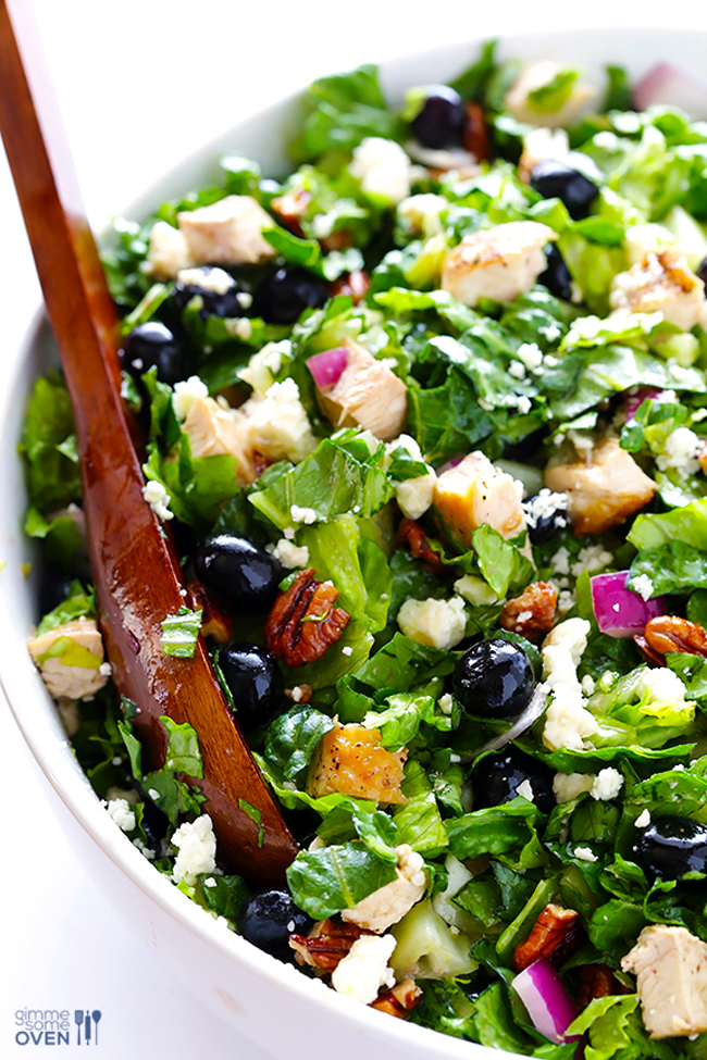 blueberry-chicken-chopped-salad