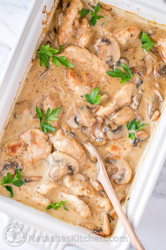 chicken-and-mushroom-casserole