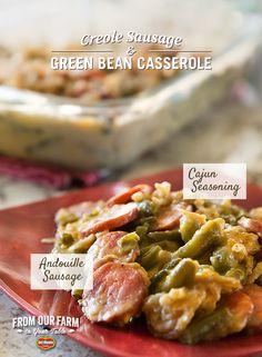 creole-sausage-green-bean-casserole