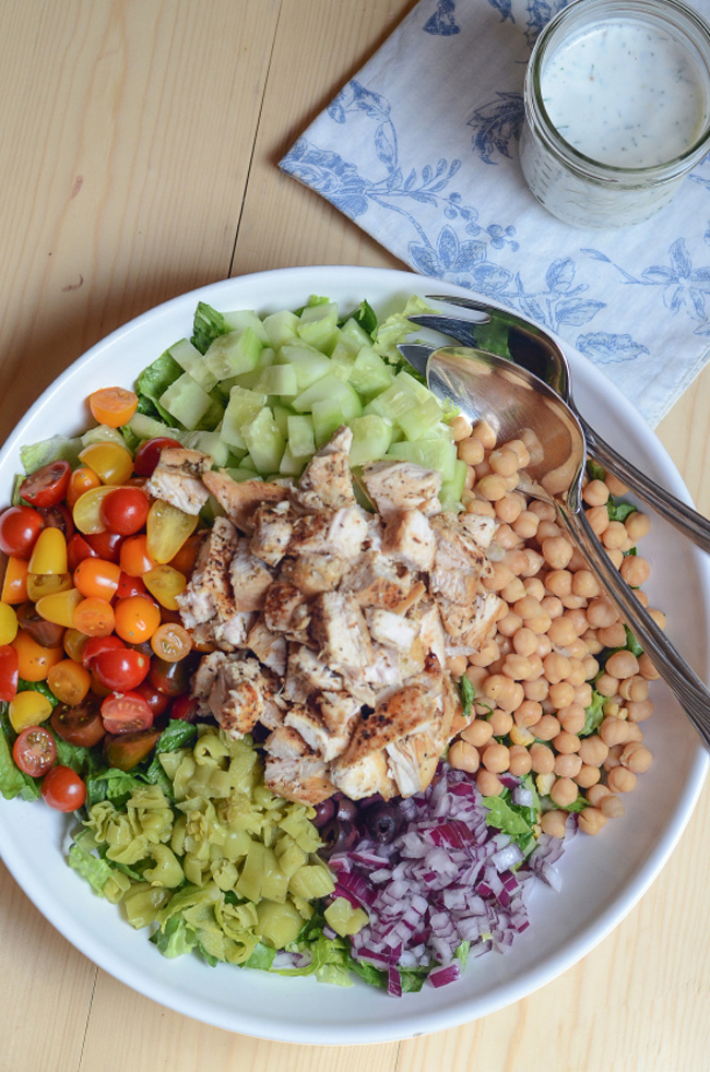 mediterranean-chicken-chopped-salad-with-creamy-feat-dill-dressing