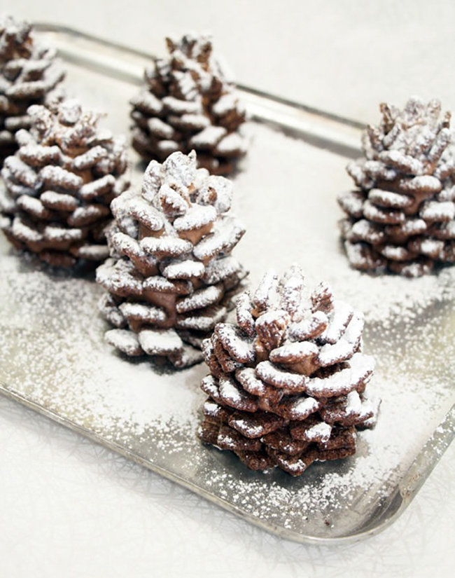 quick-and-easy-snowy-chocolate-pinecones-recipe