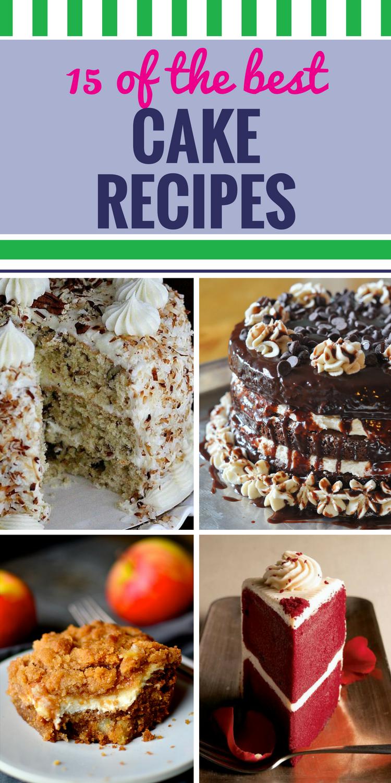 15 Cake Recipes