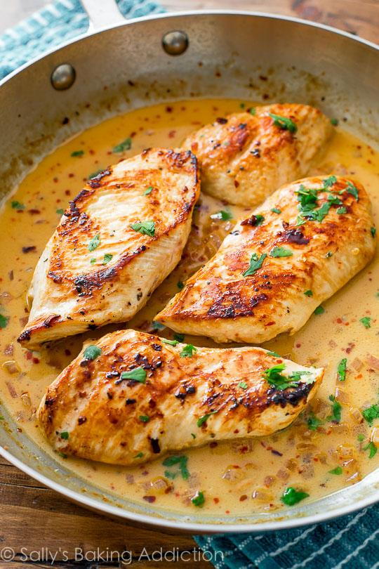 skillet-chicken-with-creamy-cilantro