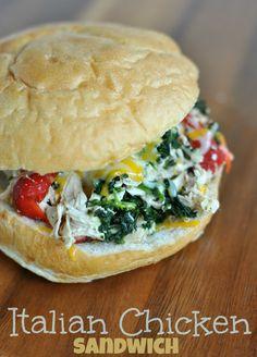 slow-cooker-italian-chicken-sandwich