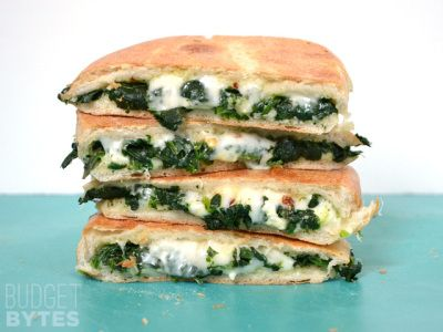 spinach-feta-grilled-cheese